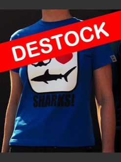 DESTOCK Divers love SHARKS! Femme manches courtes